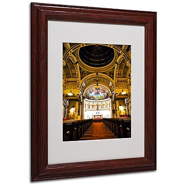 CATeyes 'St. Leonards' Matted Framed Art - 11x14 Inches - Wood Frame