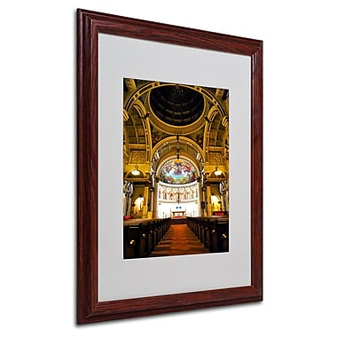 CATeyes 'St. Leonards' Matted Framed Art - 16x20 Inches - Wood Frame