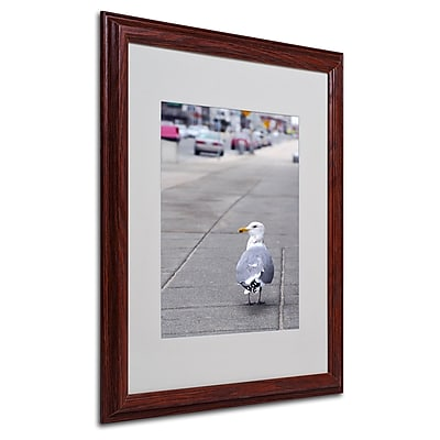 CATeyes 'Boston 4' Matted Framed Art - 16x20 Inches - Wood Frame