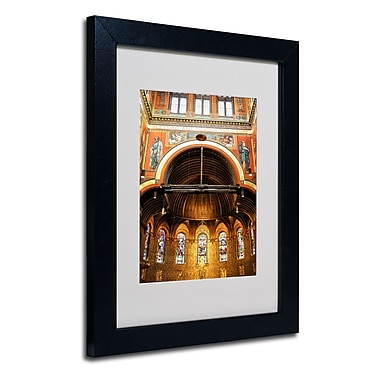 Trademark Fine Art CATeyes 'Trinity Church' Matted Art Black Frame 11x14 Inches