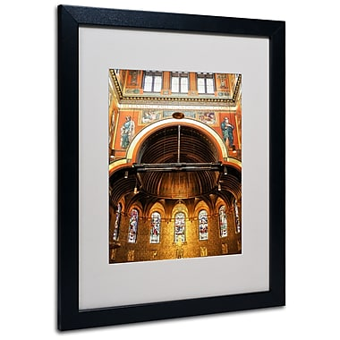 Trademark Fine Art CATeyes 'Trinity Church' Matted Art Black Frame 16x20 Inches