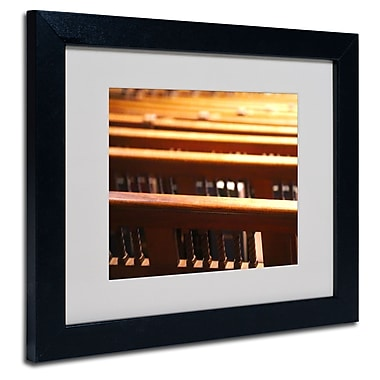 Trademark Fine Art CATeyes 'Trinity Church 2' Matted Art Black Frame 11x14 Inches