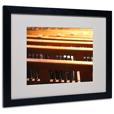 Trademark Fine Art CATeyes 'Trinity Church 2' Matted Art Black Frame 16x20 Inches