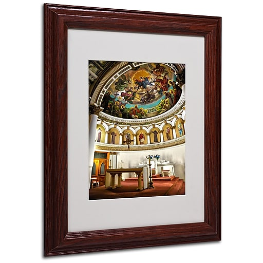 CATeyes 'St. Leonards 2' Matted Framed Art - 16x20 Inches - Wood Frame