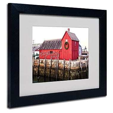 Trademark Fine Art CATeyes 'Boston 5' Matted Art Black Frame 11x14 Inches
