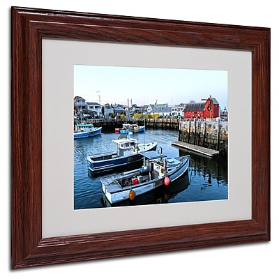 CATeyes 'Boston 7' Matted Framed Art - 11x14 Inches - Wood Frame