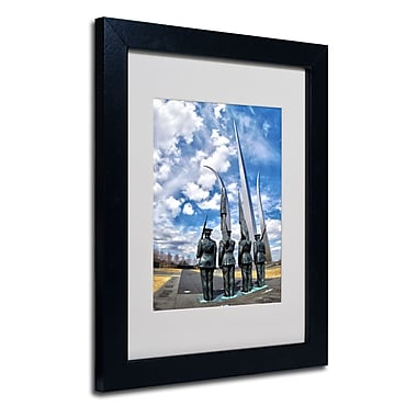 Trademark Fine Art CATeyes 'DC' Matted Art Black Frame 11x14 Inches