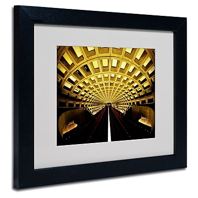 Trademark Fine Art CATeyes 'Lines' Matted Art Black Frame 11x14 Inches