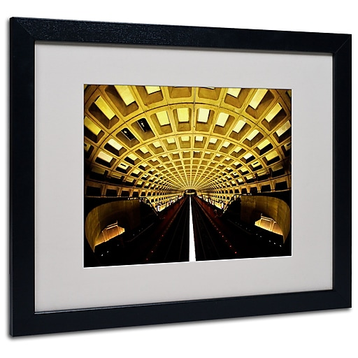 Trademark Fine Art CATeyes 'Lines' Matted Art Black Frame 16x20 Inches