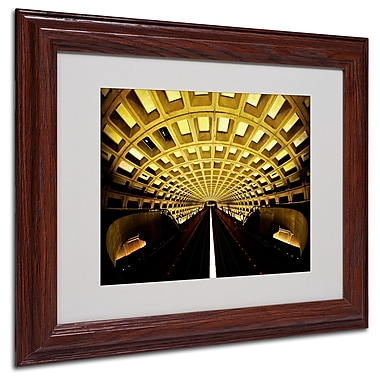 CATeyes 'Lines' Matted Framed Art - 11x14 Inches - Wood Frame