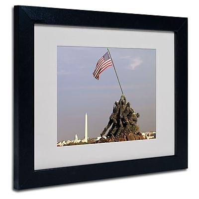 Trademark Fine Art CATeyes 'Marine Corps Memorial' Matted Art Black Frame 11x14 Inches
