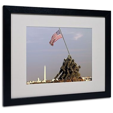 Trademark Fine Art CATeyes 'Marine Corps Memorial' Matted Art Black Frame 16x20 Inches