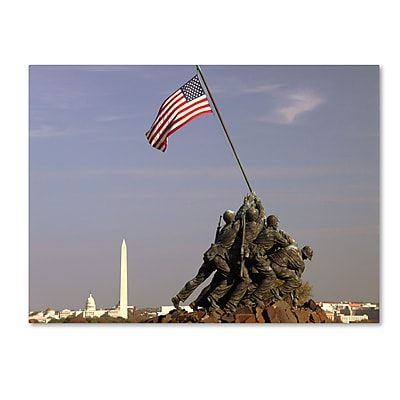 Trademark Fine Art CATeyes 'Marine Corps Memorial' Canvas Art 16x24 Inches