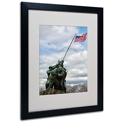 Trademark Fine Art CATeyes 'Marine Corps Memorial 2' Matted Art Black Frame 16x20 Inches