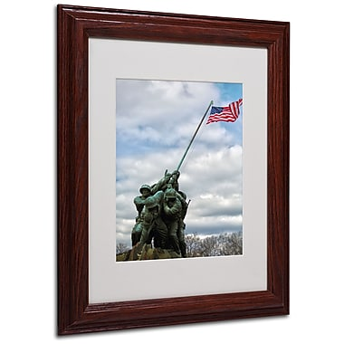 CATeyes 'Marine Corps Memorial 2' Matted Framed Art - 11x14 Inches - Wood Frame
