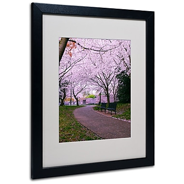 Trademark Fine Art CATeyes 'The Hope' Matted Art Black Frame 16x20 Inches