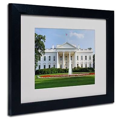 Trademark Fine Art CATeyes 'White House' Matted Art Black Frame 11x14 Inches