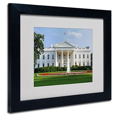 Trademark Fine Art Cateyes White House Matted Art Black