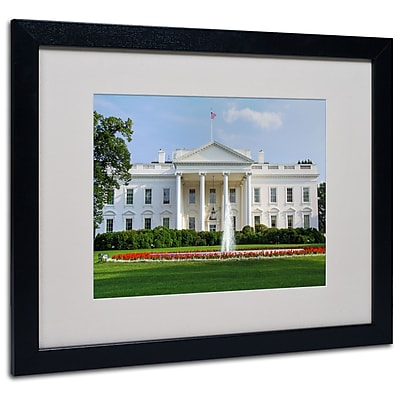 Trademark Fine Art CATeyes 'White House' Matted Art Black Frame 16x20 Inches