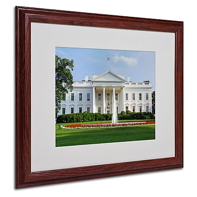 CATeyes 'White House' Matted Framed Art - 16x20 Inches - Wood Frame