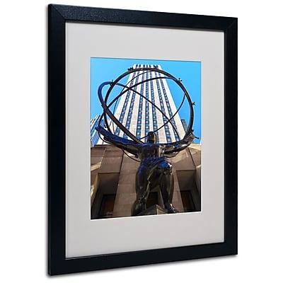 Trademark Fine Art CATeyes 'Atlas' Matted Art Black Frame 16x20 Inches