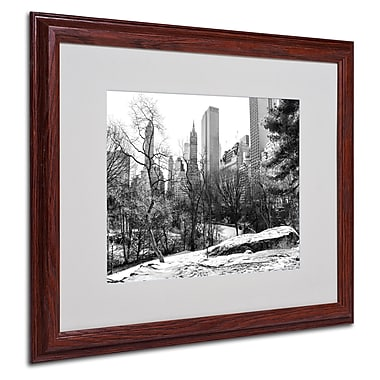 CATeyes 'Central Park' Matted Framed Art - 16x20 Inches - Wood Frame