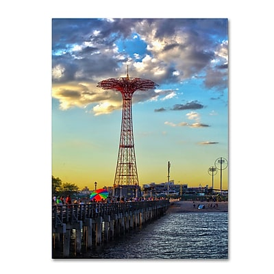 Trademark Fine Art CATeyes 'Coney Island' Canvas Art 14x19 Inches