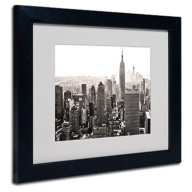 Trademark Fine Art CATeyes 'Manhattan' Matted Art Black Frame 11x14 Inches
