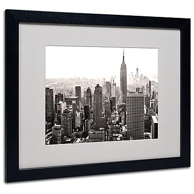 Trademark Fine Art CATeyes 'Manhattan' Matted Art Black Frame 16x20 Inches