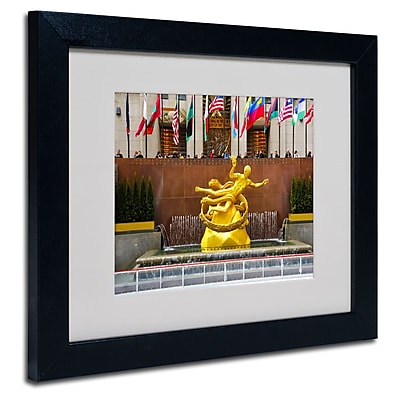 Trademark Fine Art CATeyes 'Prometheus' Matted Art Black Frame 11x14 Inches