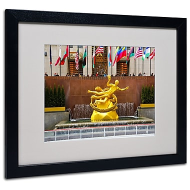 Trademark Fine Art CATeyes 'Prometheus' Matted Art Black Frame 16x20 Inches