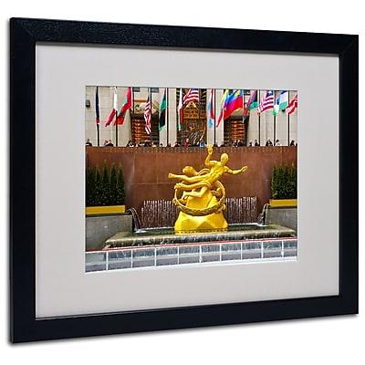 Trademark Fine Art CATeyes 'Prometheus' Matted Art Black Frame 16x20 Inches