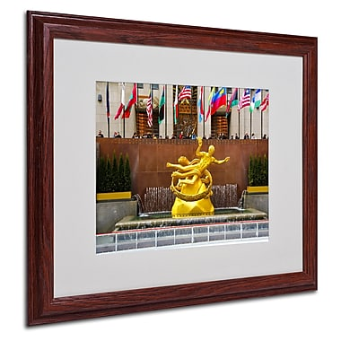 CATeyes 'Prometheus' Matted Framed Art - 16x20 Inches - Wood Frame
