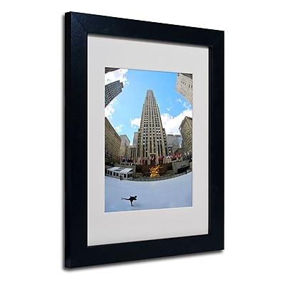 Trademark Fine Art CATeyes 'Rockefeller Center' Matted Art Black Frame 11x14 Inches