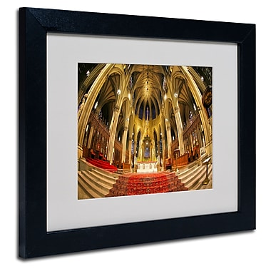 Trademark Fine Art CATeyes 'St. Patrick's' Matted Art Black Frame 11x14 Inches