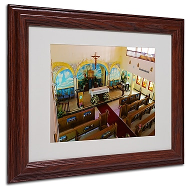 CATeyes 'Virgin Islands' Matted Framed Art - 11x14 Inches - Wood Frame