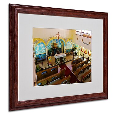 CATeyes 'Virgin Islands' Matted Framed Art - 16x20 Inches - Wood Frame