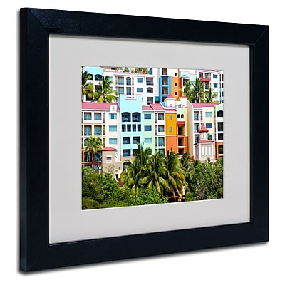 Trademark Fine Art CATeyes 'Virgin Islands 2' Matted Art Black Frame 11x14 Inches