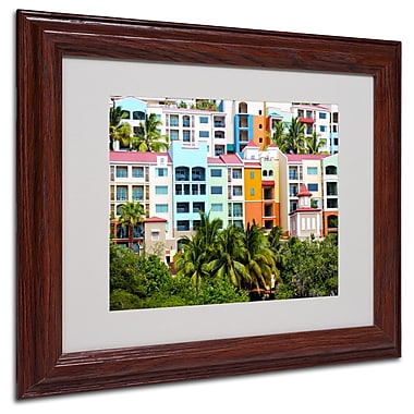 CATeyes 'Virgin Islands 2' Matted Framed Art - 11x14 Inches - Wood Frame