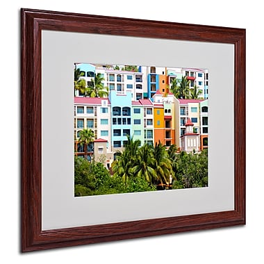 CATeyes 'Virgin Islands 2' Matted Framed Art - 16x20 Inches - Wood Frame