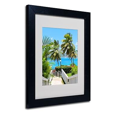 Trademark Fine Art CATeyes 'Virgin Islands 3' Matted Art Black Frame 11x14 Inches