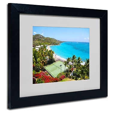 Trademark Fine Art CATeyes 'Virgin Islands 5' Matted Art Black Frame 16x20 Inches