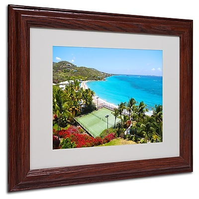 CATeyes 'Virgin Islands 5' Matted Framed Art - 11x14 Inches - Wood Frame