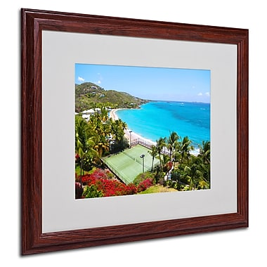 CATeyes 'Virgin Islands 5' Matted Framed Art - 16x20 Inches - Wood Frame