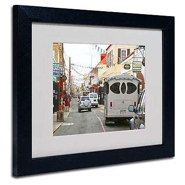 Trademark Fine Art CATeyes 'Virgin Islands 7' Matted Art Black Frame 16x20 Inches
