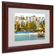 CATeyes 'Virgin Islands 8' Matted Framed Art - 11x14 Inches - Wood Frame