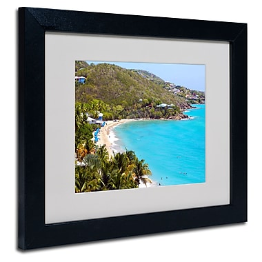 Trademark Fine Art CATeyes 'Virgin Islands 10' Matted Art Black Frame 11x14 Inches