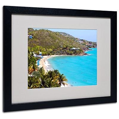 Trademark Fine Art CATeyes 'Virgin Islands 10' Matted Art Black Frame 16x20 Inches