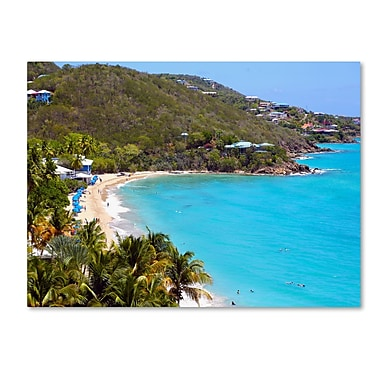 Trademark Fine Art CATeyes 'Virgin Islands 10' Canvas Art 16x24 Inches