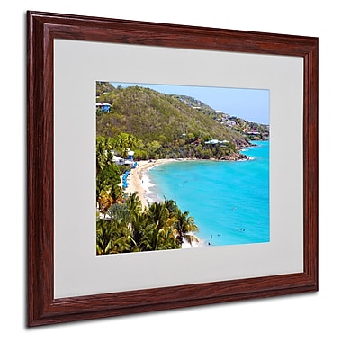 CATeyes 'Virgin Islands 10' Matted Framed Art - 16x20 Inches - Wood Frame